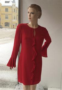 hihallinen. punainen mekko